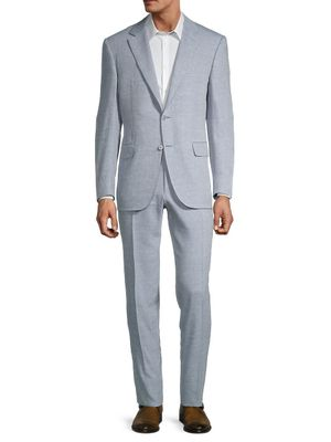 Canali Linen & Wool Textured Suit