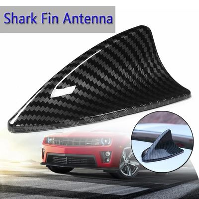 4 Type Universal Carbon Fiber Style Shark Fin Antenna base toppers Decorative Antenna Aerials Roof Car Antenna Plug For Most Car