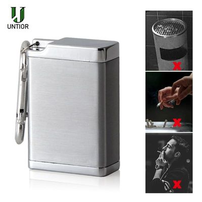 UNTIOR Mini Portable Ashtray Cigarette Keychain Outdoor Use Pocket Smoking Smoking Ash Tray with Lid Key Chain for Travelling
