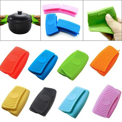1 Pair Silicone Oven Mini Gloves Heatproof Anti-scalding Gloves for Cooking Clamp Pot Holders Potholders High Quality