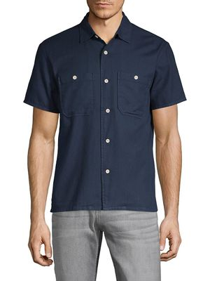 7 For All Mankind Short-Sleeve Twill Shirt