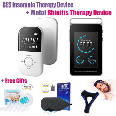 LASTEK 5 in 1 Insomnia CES Treatment Instrument Anti Anxiety Depression Sinusitis Rhinitis Metal Laser Therapy Device + 3 Gifts