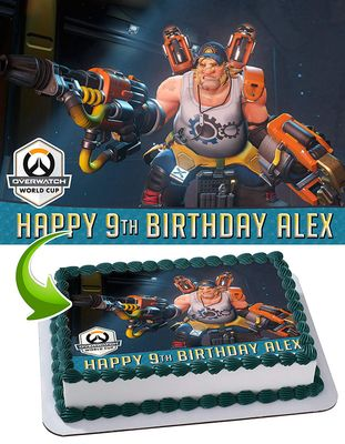 Overwatch Edible Cake Image Topper Personalized Picture 1/4 Sheet (8