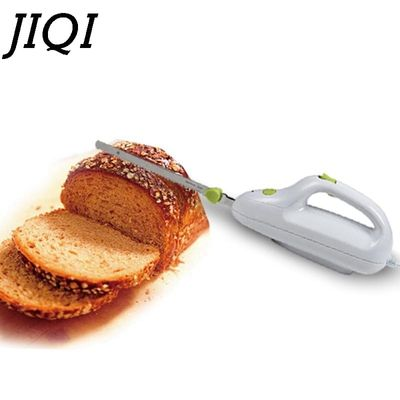 JIQI Stainless steel Knife Blade Bread Cutting Machine Handheld Toast Cutter kitchen Mini Electric Freeze Frozen Meat Slicer EU