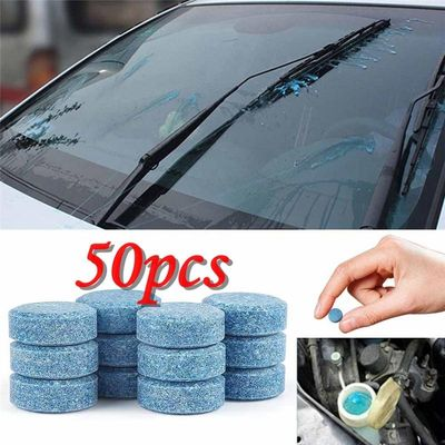 50PCS Car Wiper Detergent Effervescent Tablets Washer Auto Windshield Cleaner Glass Wash Cleaning Compact Concentrated Tools