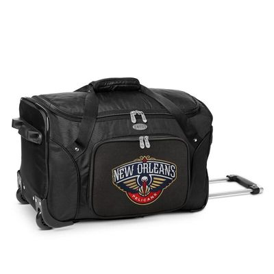 New Orleans Pelicans 22In 2-Wheeled Duffel Bag - Black
