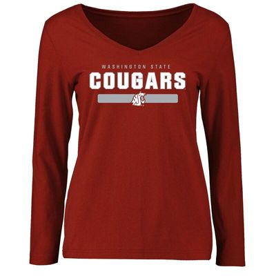 Washington State Cougars Women's Team Strong Long Sleeve T-Shirt - Crimson