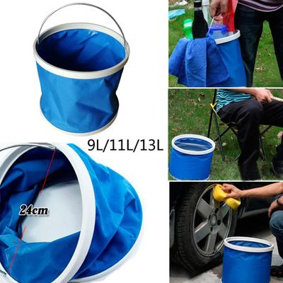Thickening Portable Folding Bucket Outdoor Camping Fishing Bucket Car Storage Container Car Wash Mop Bucket Cleaning Tools#G7