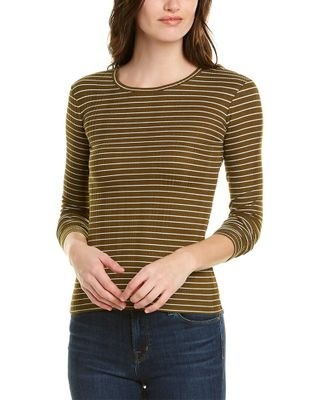 Vince Variegated Rib Striped Top