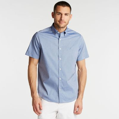 Nautica Classic Fit Wrinkle-resistant Short Sleeve Shirt