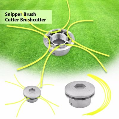 Aluminum Grass Trimmer Head With 4 Lines Brush Cutter Head Thread Nylon Grass Cutting Line Head for Strimmer Replacement