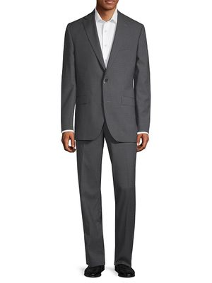 Jack Victor Classic Fit Patterned Wool Suit