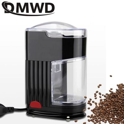 DMWD Electric Coffee Grinder Coffee Mill Bean Grinder Machine Flat Burrs Nut Seeds Ultrafine Dry Grinding Machine 220V/110V EU