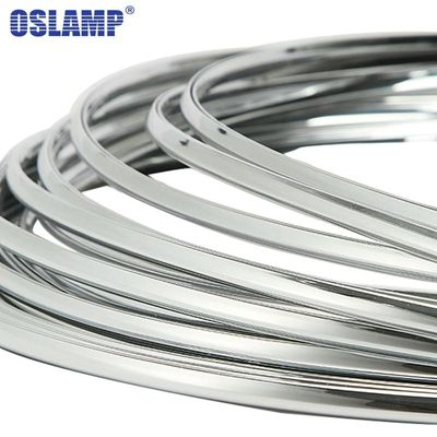 Oslamp 3M 6mm 3Meters Car Chrome Decor Strip Sticker Silver Auto Styling Moulding Trim Strip Body Window Exterior Decoration