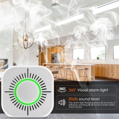 3 in 1 Smoke Detector Wireless 433MHz for Fire Security Alarm Protection Alarm Sensor for Home Factory Security Alarm System