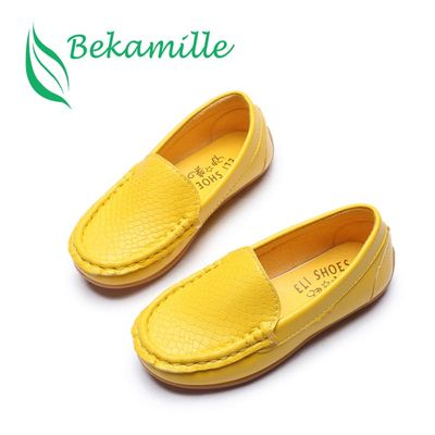 Bekamille Children Shoes 2018 Girls Boys Shoes High Quality Leather Kids Sneakers  Soft Bottom Breathable Child Loafers SY088
