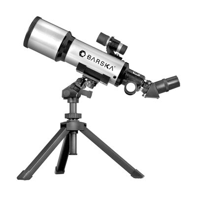Barska 300 Power 400x70mm Refractor Starwatcher Telescope with Tabletop Tripod and Carrying Case