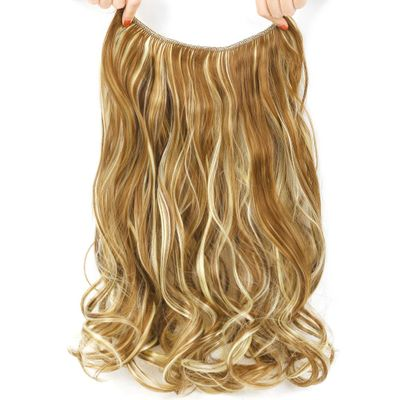 Long Blonde Invisible Wire No Clips In Hair Extensions Synthetic Hair Pieces For Women Real Fish Line Hair Extension