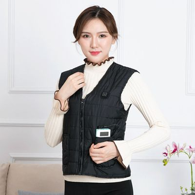 Women Men USB Charging Three Grades Hiking Fishing Heating Vest One Button Winter Travel Skiing Adjustable Electric Washable