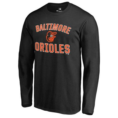 Baltimore Orioles Victory Arch Long Sleeve T-Shirt - Black