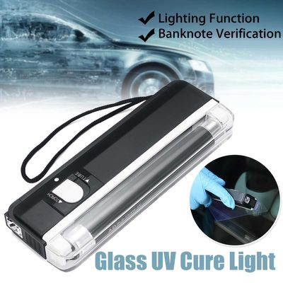 Car Window Resin Cured UV Lamp Auto Glass Ultraviolet UV Cure Light Lighting Windshield Replaceable Repair Kit