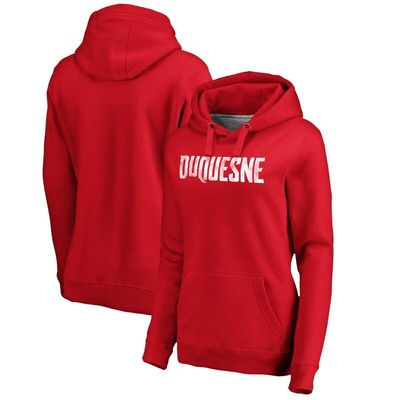 Duquesne Dukes Women's Classic Wordmark Pullover Hoodie - Red