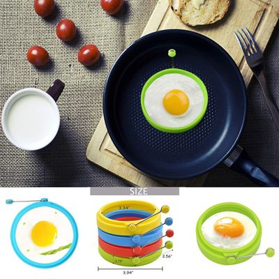 1PC Silicone Round Egg Rings Fry Fried Poacher Mould Kitchen Cooking Tools Non-stick Egg Pancake Mold