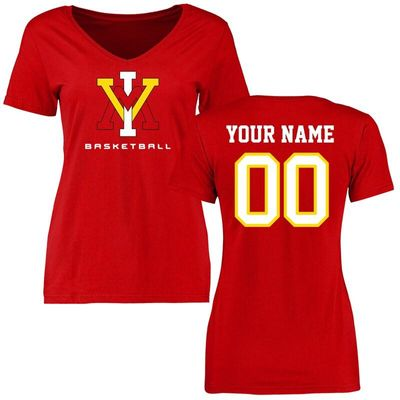 Virginia Military Institute Keydets Women's Personalized Basketball T-Shirt - Red