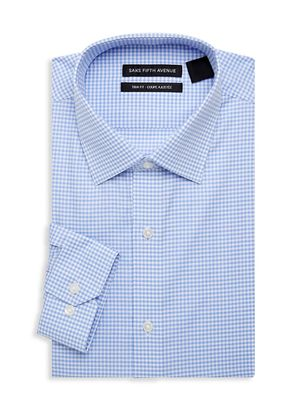 Saks Fifth Avenue Trim-Fit Checked Dress Shirt