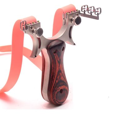 Slingshot Catapult Hunting High Quality Stainless steel With Rubber Band Outdoor Shooting Game sling shot
