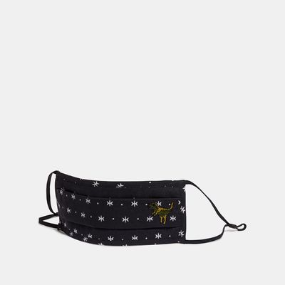 COACH Rexy Face Mask With Star Dot Print