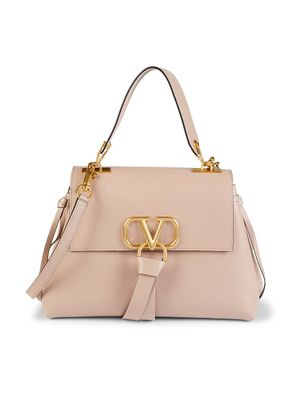 Valentino Garavani Foldover Leather Crossbody Bag