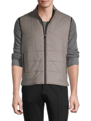 Corneliani Reversible Quilted Virgin-Wool Vest