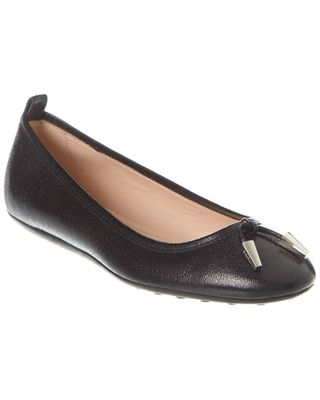 TODs Leather Ballerina Flat