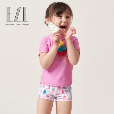 July Sand skin care cute baby girl ice-cream summer two piece swimsuit 2018 18Y009