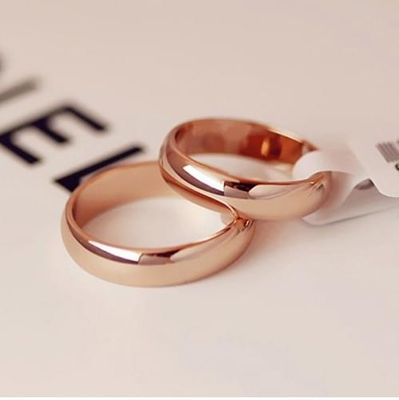 Kristi tina High quality Simple Round Men Rings female Rose Gold color wedding rings for women Lover's fashion Jewelry Gift
