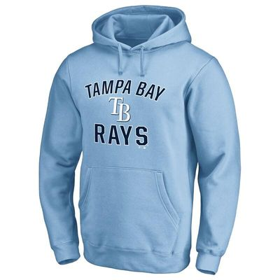 Tampa Bay Rays Victory Arch Pullover Hoodie - Light Blue