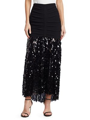 Rachel Comey Tears Sequins Glare A-Line Skirt