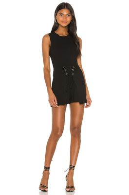 BCBGeneration Sleeveless Front Lace Up Romper