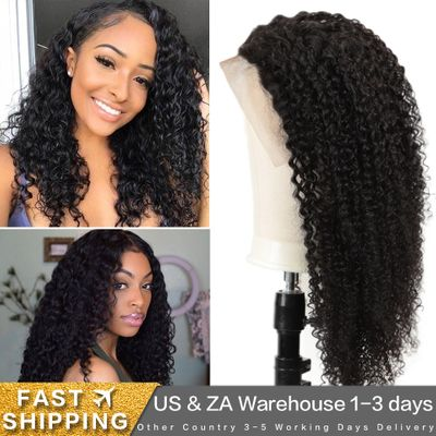 Joedir 250 Density Lace Wig Brazilian Kinky Curly Lace Human Hair Wigs 13x4 Curly 30 inch Lace Front Human Hair Wigs Pre Plucked