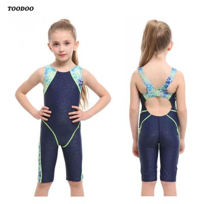 2020 New Professional Girls One-piece Swimming Trunks bathing Children suit Swimsuit High Quality Strech Fabric Swimwear