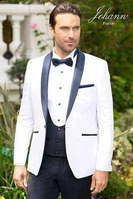 groom tuxedos  for wedding suits men dinner wear white 3 piece 2019 tailor