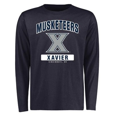Xavier Musketeers Campus Icon Long Sleeve T-Shirt - Navy