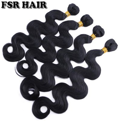 Black Body wave hair weave 12-24 inches available Synthetic Hair extension 100g/pcs Hair product