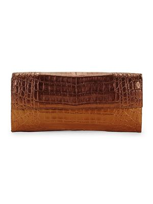 Nancy Gonzalez Small Flap Crocodile Leather Clutch