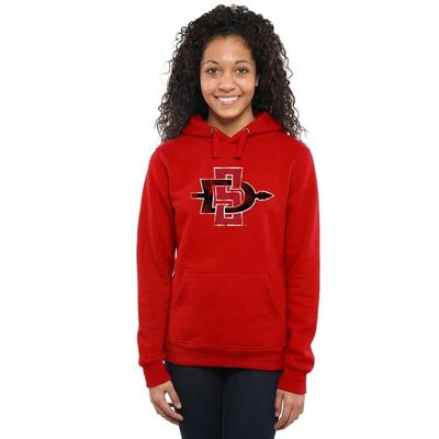 San Diego State Aztecs Women's Classic Primary Pullover Hoodie - Scarlet