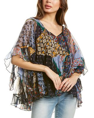 Johnny Was Hirox Silk Blouse