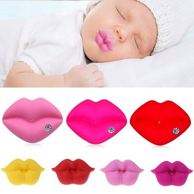 2020 Hot Silicone Funny Baby Pacifier Infant Nipple Soother Joke Prank Teether Newborn Pacifier Clips Bottle Nozzle Diamond