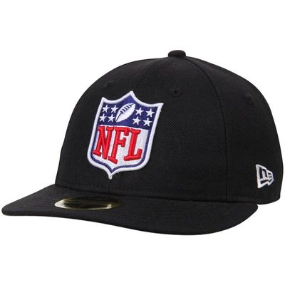 NFL Shield New Era Logo Low Crown 59FIFTY Fitted Hat - Black