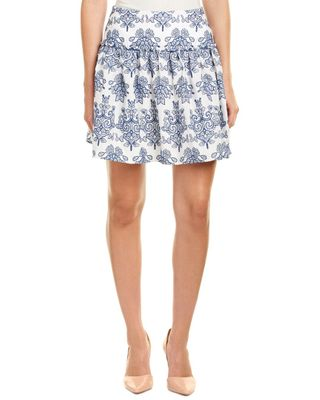 n / nicholas Embroidered A-Line Skirt